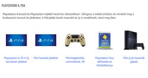 playstation 4 jatek, konzol